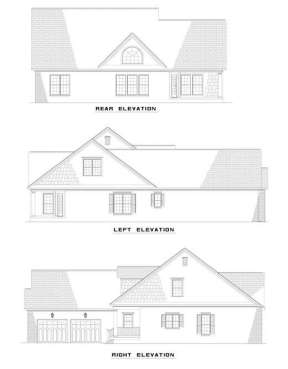 Country House Plan #110-00400 Elevation Photo
