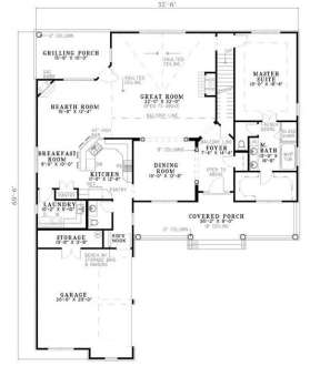 Floorplan 1 for House Plan #110-00400
