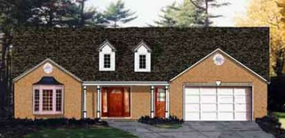 3 Bed, 2 Bath, 1580 Square Foot House Plan - #033-00096