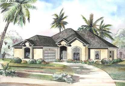 3 Bed, 2 Bath, 2056 Square Foot House Plan - #110-00408