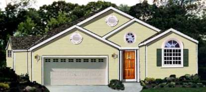 3 Bed, 2 Bath, 1652 Square Foot House Plan - #033-00097