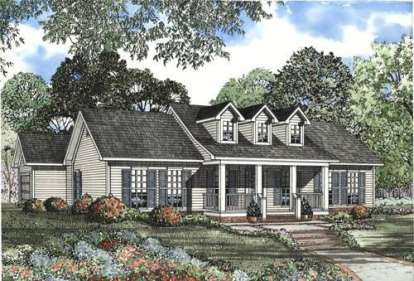 3 Bed, 2 Bath, 1597 Square Foot House Plan - #110-00423