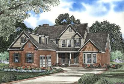 4 Bed, 2 Bath, 2886 Square Foot House Plan - #110-00426