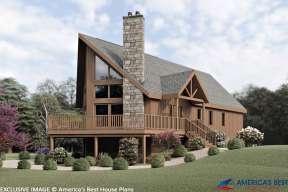 Mountain House Plan #033-00100 Elevation Photo