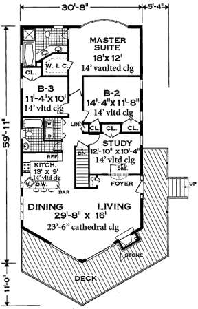 Floorplan 1 for House Plan #033-00100