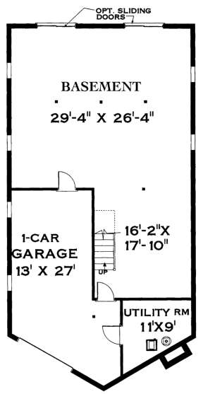 Floorplan 2 for House Plan #033-00100