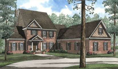 5 Bed, 3 Bath, 3946 Square Foot House Plan - #110-00443