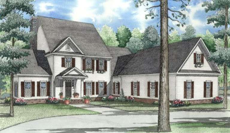 Early American House Plan #110-00444 Elevation Photo