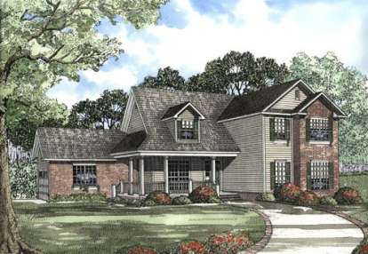 4 Bed, 2 Bath, 2810 Square Foot House Plan - #110-00445