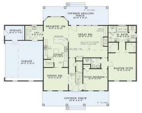 Floorplan 1 for House Plan #110-00450