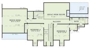 Floorplan 2 for House Plan #110-00450