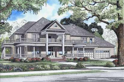 6 Bed, 5 Bath, 7870 Square Foot House Plan - #110-00463