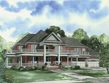 6 Bed, 5 Bath, 7870 Square Foot House Plan - #110-00464