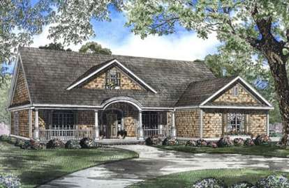 4 Bed, 2 Bath, 2338 Square Foot House Plan - #110-00473