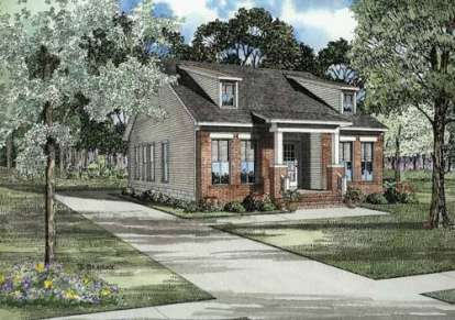 3 Bed, 2 Bath, 1259 Square Foot House Plan - #110-00479