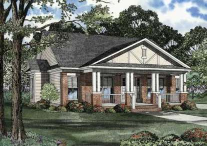 3 Bed, 2 Bath, 1399 Square Foot House Plan - #110-00482