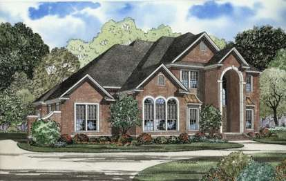 5 Bed, 5 Bath, 3692 Square Foot House Plan - #110-00484