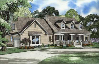 4 Bed, 3 Bath, 2373 Square Foot House Plan - #110-00499