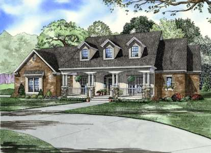 4 Bed, 3 Bath, 2373 Square Foot House Plan #110-00500