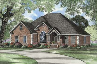 4 Bed, 3 Bath, 2542 Square Foot House Plan - #110-00508