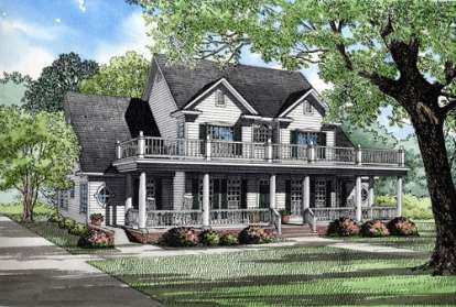4 Bed, 3 Bath, 3820 Square Foot House Plan - #110-00510