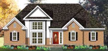 3 Bed, 2 Bath, 1742 Square Foot House Plan - #033-00101