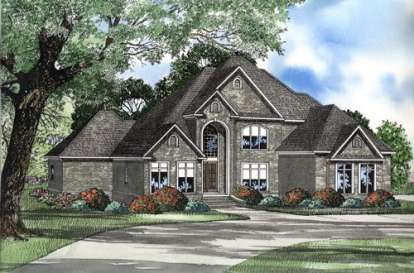 4 Bed, 3 Bath, 4360 Square Foot House Plan - #110-00514