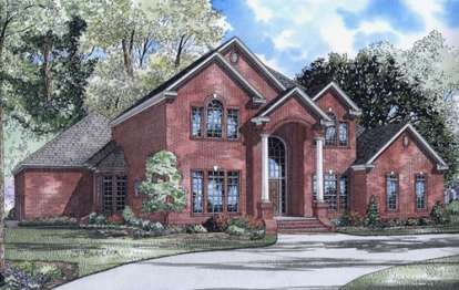 4 Bed, 3 Bath, 4054 Square Foot House Plan - #110-00526
