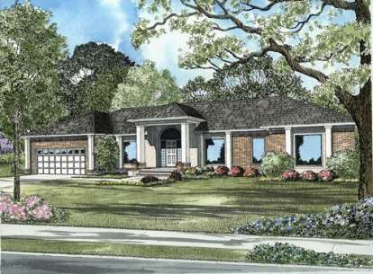 4 Bed, 2 Bath, 3434 Square Foot House Plan - #110-00531
