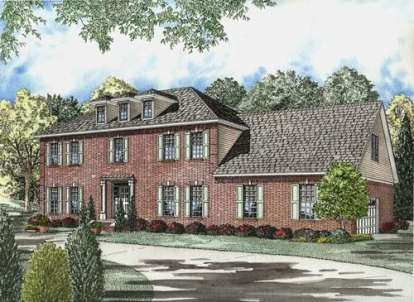 4 Bed, 3 Bath, 3099 Square Foot House Plan - #110-00538