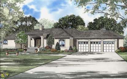 3 Bed, 2 Bath, 3289 Square Foot House Plan - #110-00554
