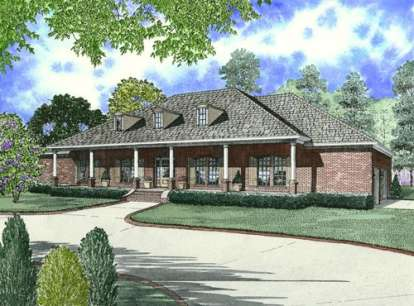 4 Bed, 2 Bath, 2804 Square Foot House Plan - #110-00559
