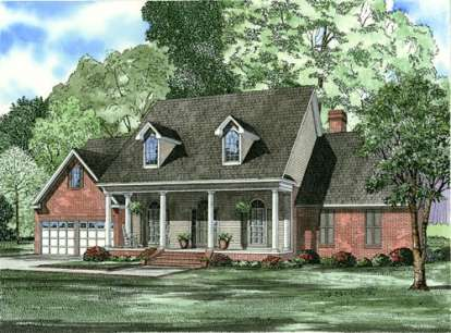 4 Bed, 3 Bath, 2458 Square Foot House Plan - #110-00560