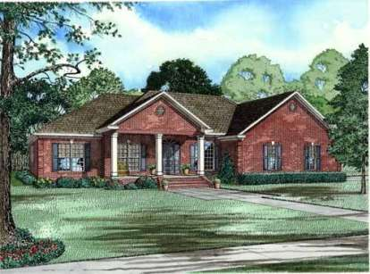 4 Bed, 3 Bath, 2675 Square Foot House Plan - #110-00566