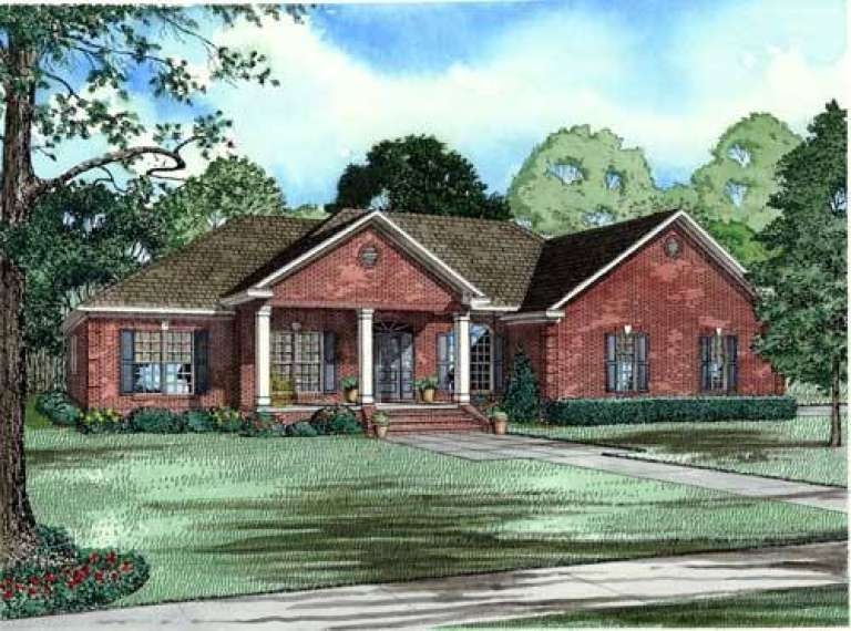 Southern House Plan #110-00566 Elevation Photo