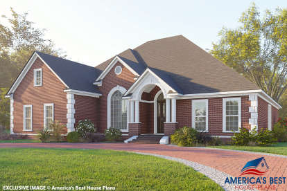 4 Bed, 3 Bath, 2486 Square Foot House Plan - #110-00573