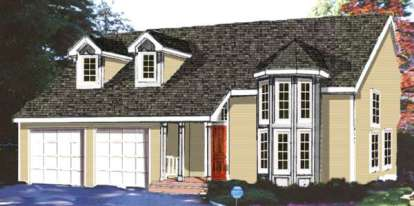 4 Bed, 2 Bath, 1828 Square Foot House Plan - #033-00104
