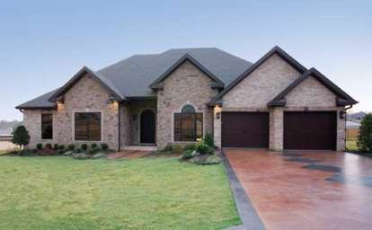 4 Bed, 3 Bath, 2525 Square Foot House Plan #110-00585
