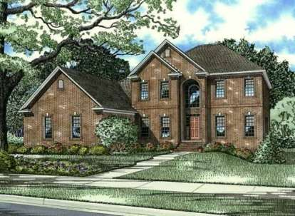 5 Bed, 3 Bath, 3643 Square Foot House Plan - #110-00589