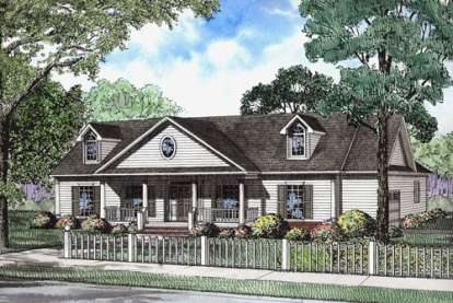 4 Bed, 2 Bath, 2246 Square Foot House Plan - #110-00593