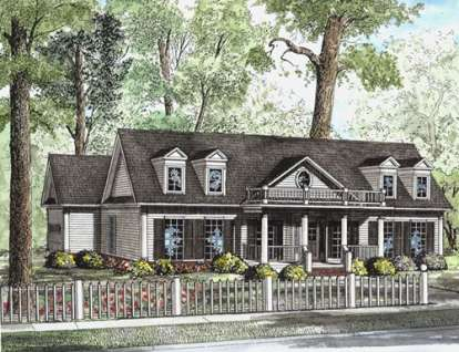 3 Bed, 2 Bath, 1683 Square Foot House Plan - #110-00594