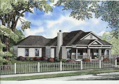3 Bed, 2 Bath, 1914 Square Foot House Plan - #110-00598