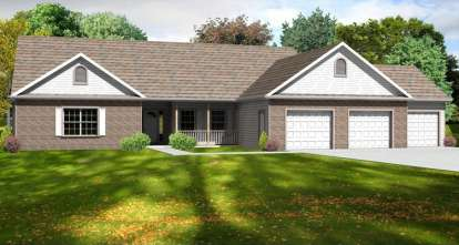 3 Bed, 2 Bath, 2246 Square Foot House Plan - #849-00088