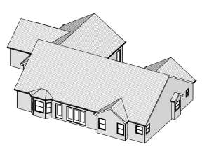 Country House Plan #849-00088 Elevation Photo