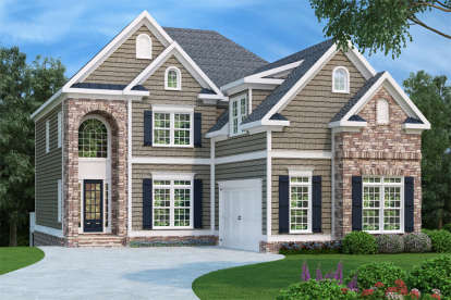 4 Bed, 4 Bath, 3249 Square Foot House Plan - #009-00039