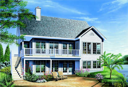2 Bed, 1 Bath, 1114 Square Foot House Plan - #034-00140