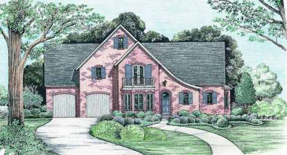 4 Bed, 3 Bath, 2862 Square Foot House Plan - #402-01042