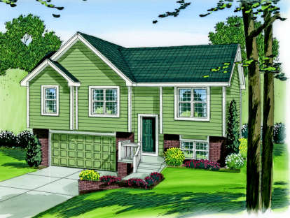 3 Bed, 2 Bath, 1096 Square Foot House Plan #963-00003