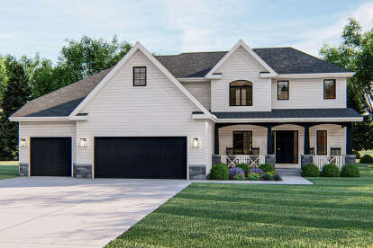 4 Bed, 2 Bath, 2787 Square Foot House Plan - #963-00004