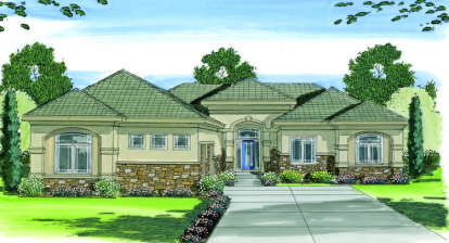 3 Bed, 2 Bath, 2165 Square Foot House Plan - #963-00012